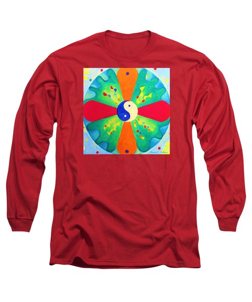 Long Sleeve T-Shirt featuring the painting Mandala by Denise Fulmer