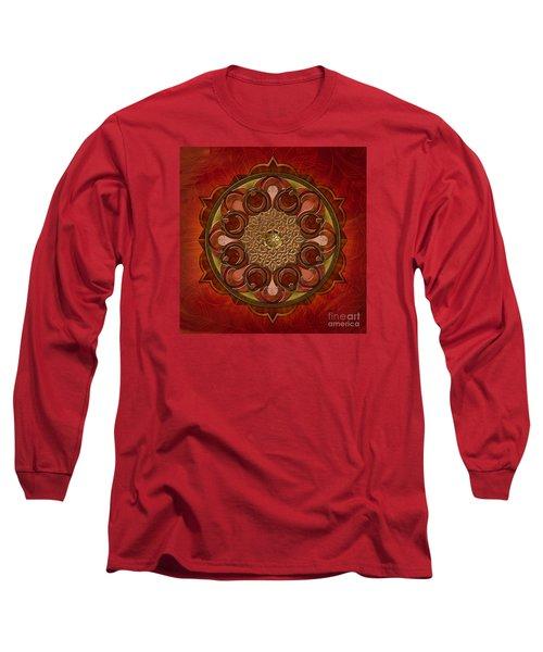 Mandala Flames Long Sleeve T-Shirt