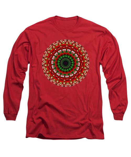 Mandala Tulipa By Kaye Menner Long Sleeve T-Shirt by Kaye Menner