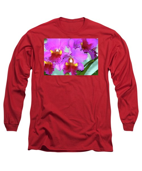Many Purple Orchids Long Sleeve T-Shirt by Lehua Pekelo-Stearns