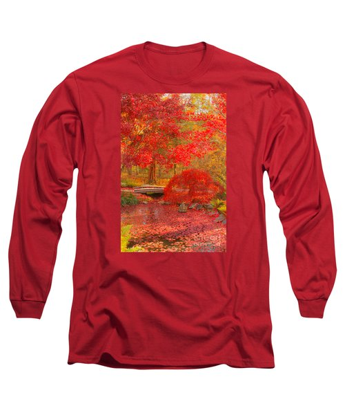 Long Sleeve T-Shirt featuring the photograph Maple Bridge by Geraldine DeBoer