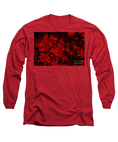 Maple Dance In Red Velvet Long Sleeve T-Shirt