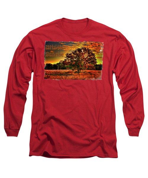 Maple Tree On An Illinois Priaire Early Autumn Long Sleeve T-Shirt