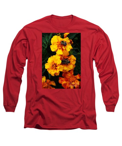 Long Sleeve T-Shirt featuring the photograph Marigold Cluster by J L Zarek