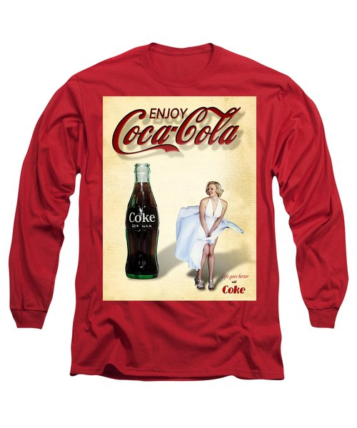 Marilyn Coca Cola Girl 3 Long Sleeve T-Shirt