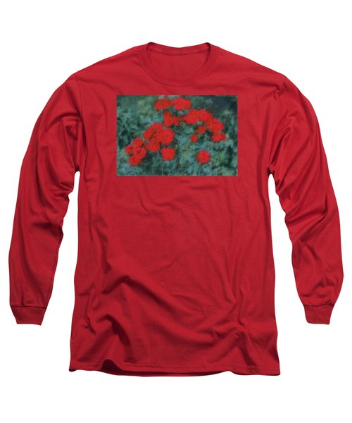 Marilyn's Red Roses Long Sleeve T-Shirt by The Art Of Marilyn Ridoutt-Greene