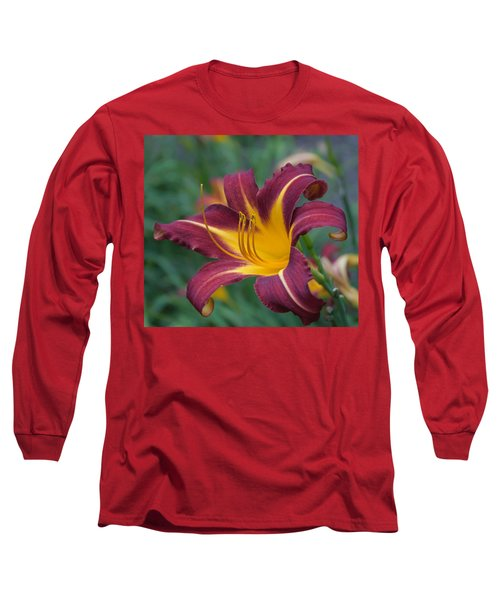 Maroon And Gold Long Sleeve T-Shirt