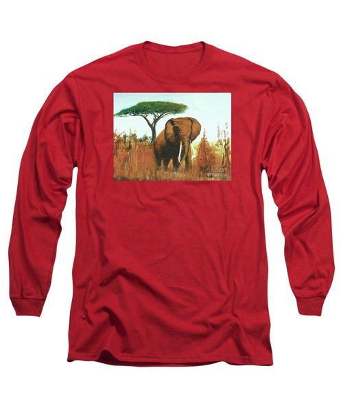 Marsha's Elephant Long Sleeve T-Shirt by Donna Dixon
