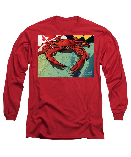 Maryland Red Crab Long Sleeve T-Shirt