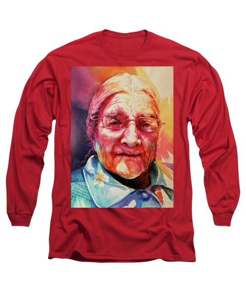 Long Sleeve T-Shirt featuring the painting Windows To The Soul by J- J- Espinoza