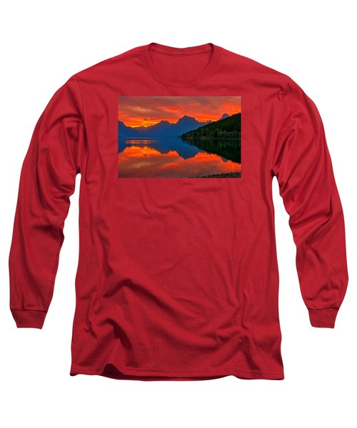 Long Sleeve T-Shirt featuring the photograph Mcdonald Sunrise by Greg Norrell