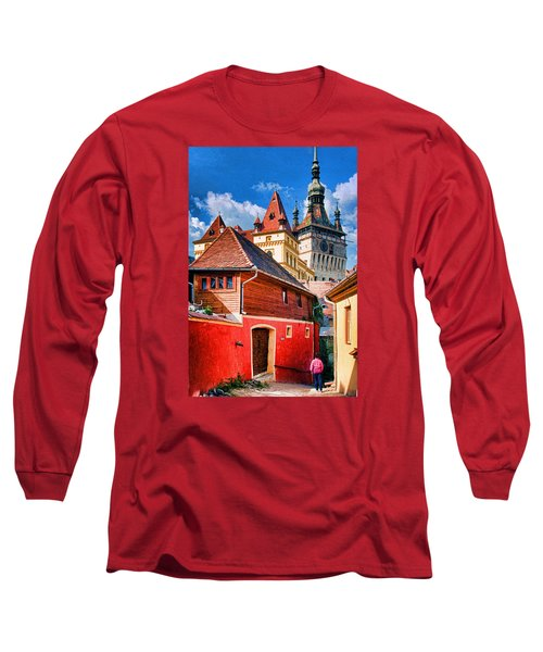 Long Sleeve T-Shirt featuring the photograph Medieval Sighisoara by Dennis Cox WorldViews
