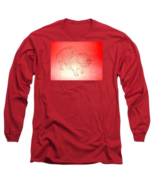 Meishan Sow 3 Long Sleeve T-Shirt by Larry Campbell
