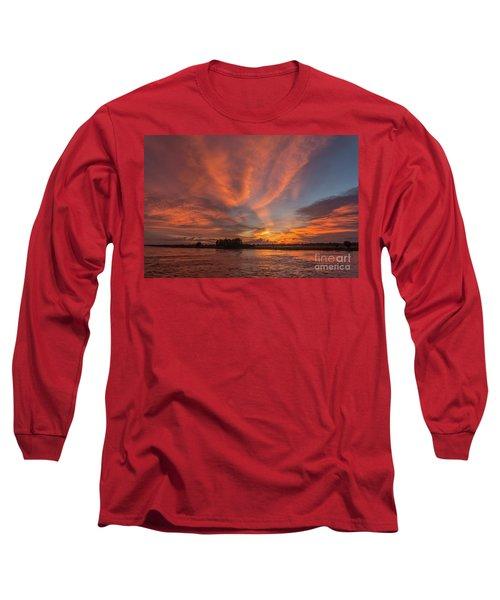 Long Sleeve T-Shirt featuring the photograph Mekong Sunset 3 by Werner Padarin
