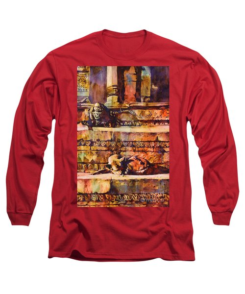 Memories Of Happier Times- Nepal Long Sleeve T-Shirt by Ryan Fox