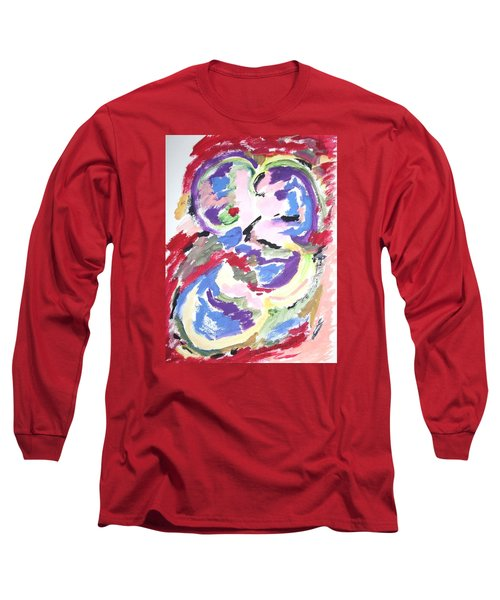Long Sleeve T-Shirt featuring the painting Mental Preoccupation by Esther Newman-Cohen