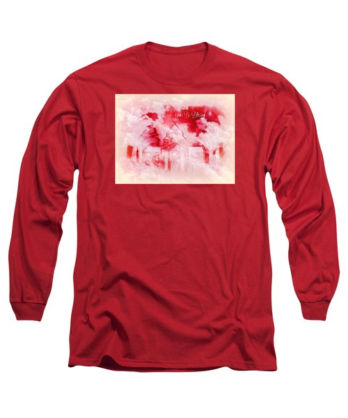 Long Sleeve T-Shirt featuring the digital art Merry Christmas And A Blessed New by Sherri Of Palm Springs