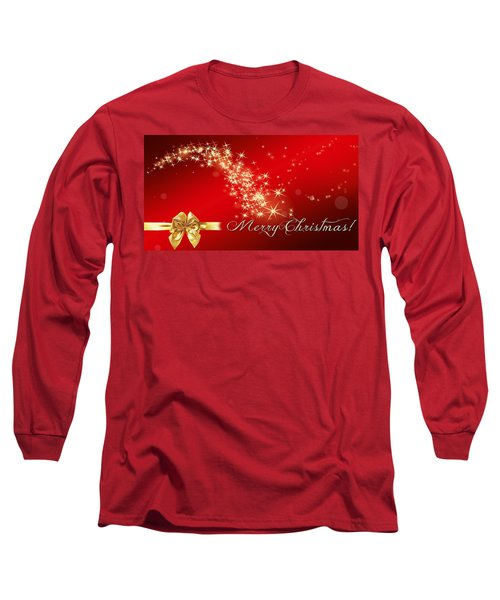 Merry Christmas Christmas Card Long Sleeve T-Shirt by Bellesouth Studio