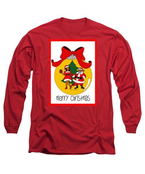 Merry Christmas Long Sleeve T-Shirt by Diamin Nicole