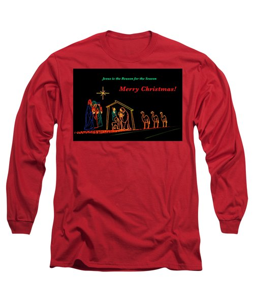 Merry Christmas Long Sleeve T-Shirt by Penny Lisowski