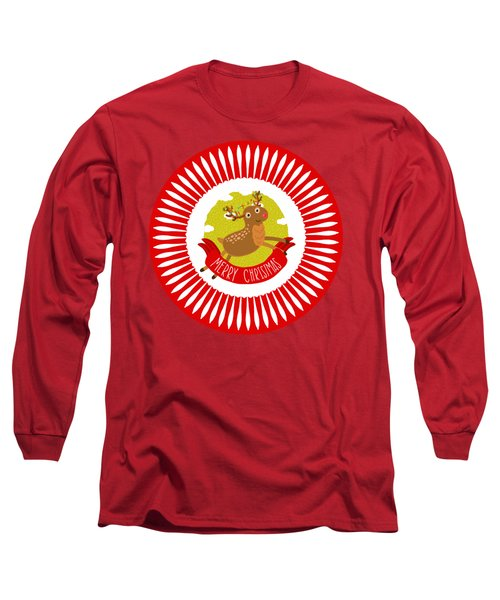 Merry Christmas Reindeer By Kaye Menner Long Sleeve T-Shirt
