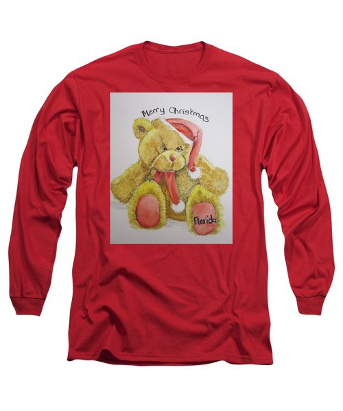 Merry Christmas Teddy  Long Sleeve T-Shirt