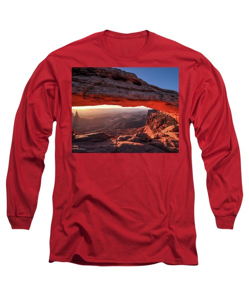 Mesa Arch At Sunrise 2, Canyonlands National Park, Utah Long Sleeve T-Shirt
