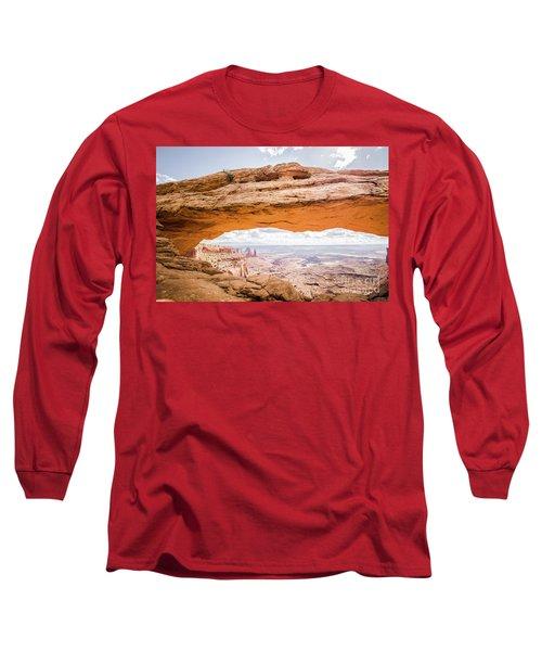 Mesa Arch Sunrise Long Sleeve T-Shirt by JR Photography