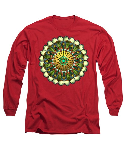 Metallic Mandala Long Sleeve T-Shirt