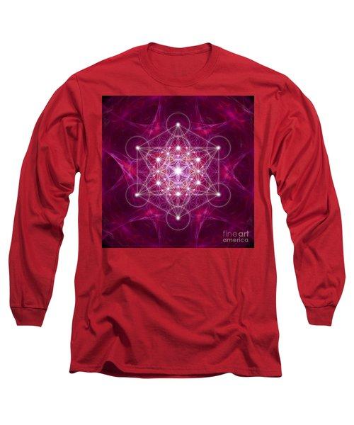 Metatron Cube Fractal Long Sleeve T-Shirt