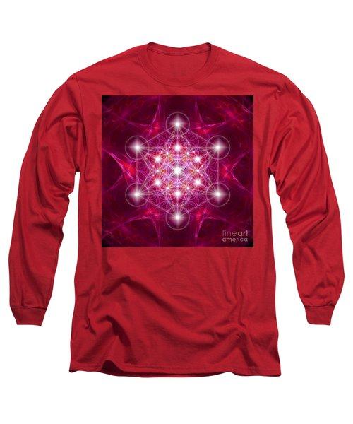 Metatron Cube With Flower Long Sleeve T-Shirt