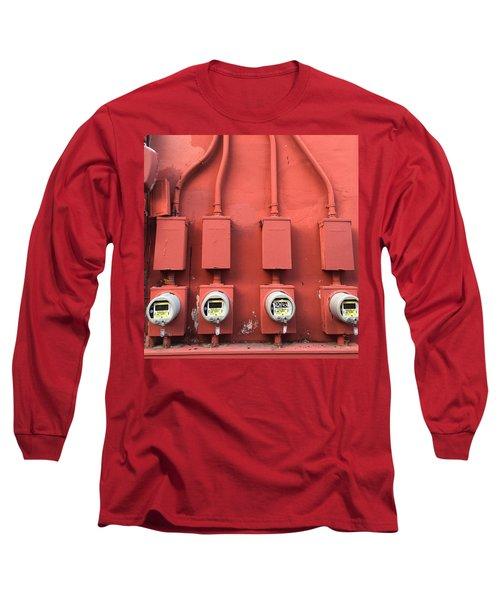 Meter Reader Red 2 Long Sleeve T-Shirt