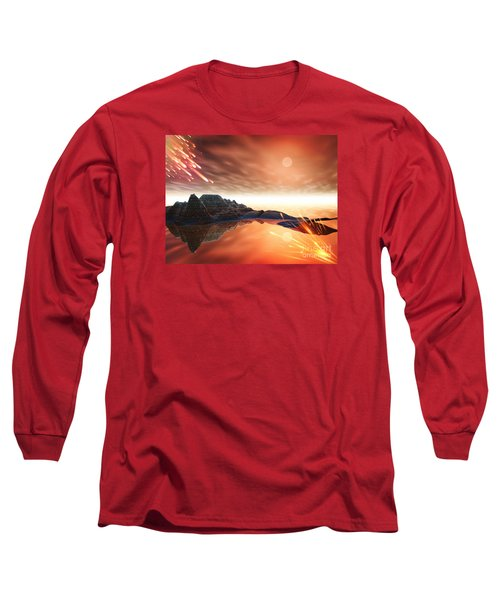 Long Sleeve T-Shirt featuring the digital art Meteroite by Jacqueline Lloyd