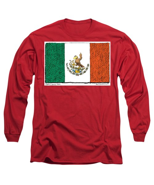 Mexico Flips Bird Long Sleeve T-Shirt