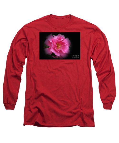 Midnight Rose Long Sleeve T-Shirt by Yumi Johnson