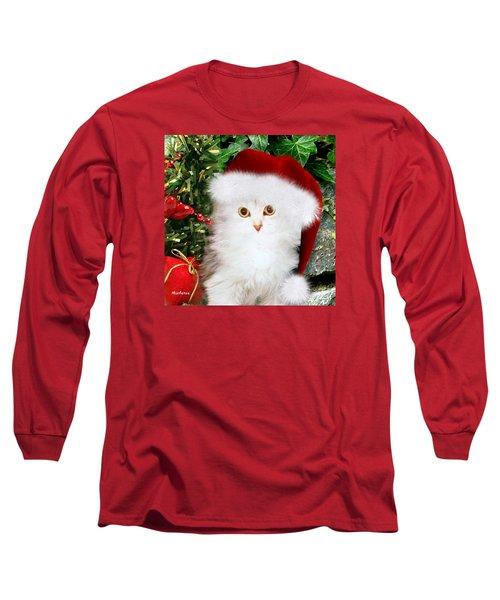 Mistletoe At Christmas Long Sleeve T-Shirt by Morag Bates