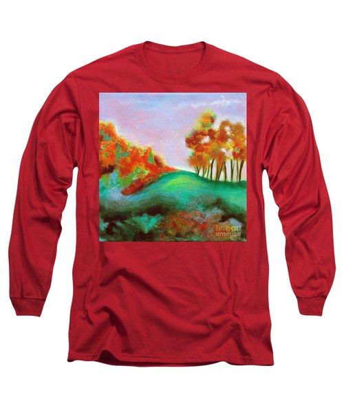 Misty Morning Long Sleeve T-Shirt by Elizabeth Fontaine-Barr