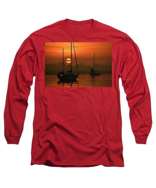 Misty Morning Sunrise Long Sleeve T-Shirt