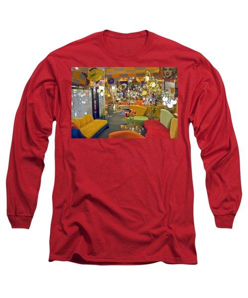 Long Sleeve T-Shirt featuring the photograph Modern Deco Furniture Store Interior by David Zanzinger