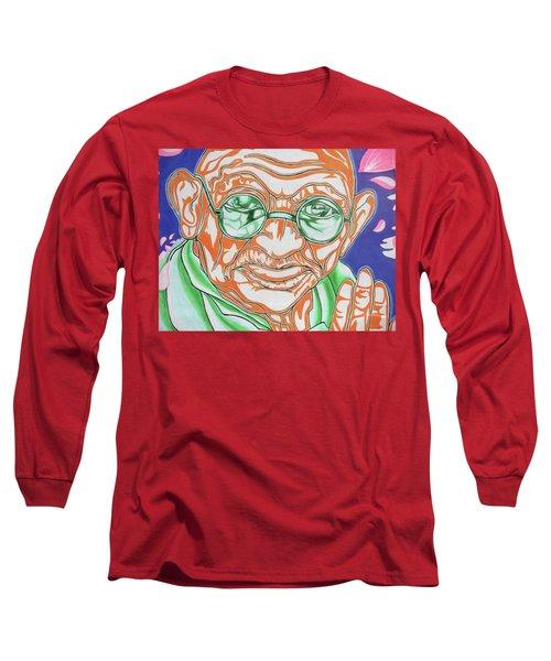 Long Sleeve T-Shirt featuring the photograph Mohandas Karamchand Gandhi  by Juergen Weiss