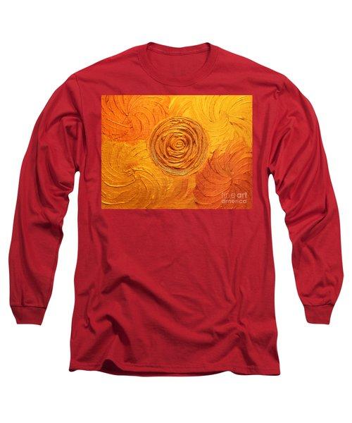 Molten Spiral Long Sleeve T-Shirt by Rachel Hannah