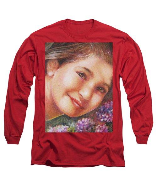 Mona Lisa's Smile Long Sleeve T-Shirt