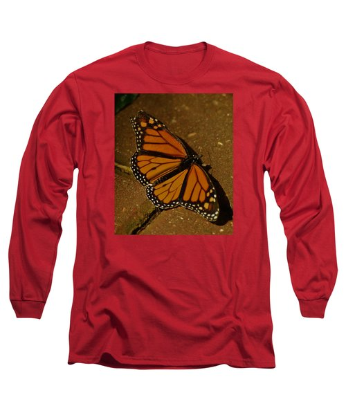 Long Sleeve T-Shirt featuring the photograph Monarch Butterfly by Ramona Whiteaker
