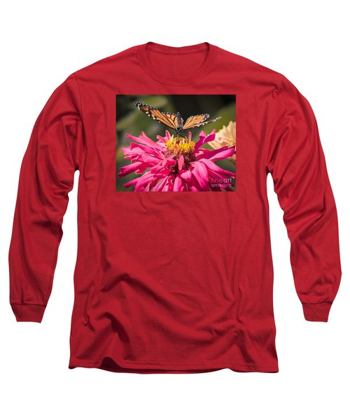 Long Sleeve T-Shirt featuring the photograph Monarch On The Last Days Of Summer by Ricky L Jones
