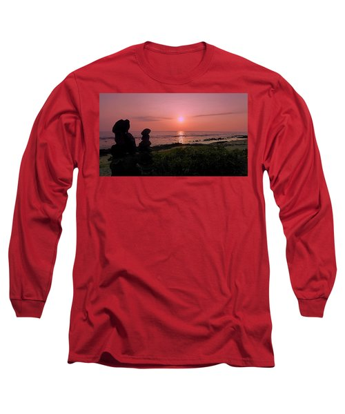 Long Sleeve T-Shirt featuring the photograph Monoliths At Sunset by Lori Seaman