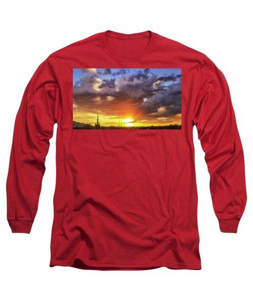 Long Sleeve T-Shirt featuring the photograph Monsoon Sunset by Anthony Citro