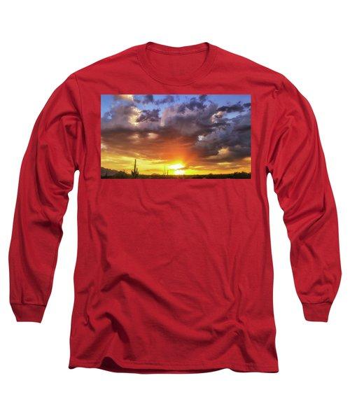 Monsoon Sunset Long Sleeve T-Shirt by Anthony Citro