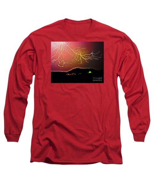 Monster Lightning By Michael Tidwell Long Sleeve T-Shirt