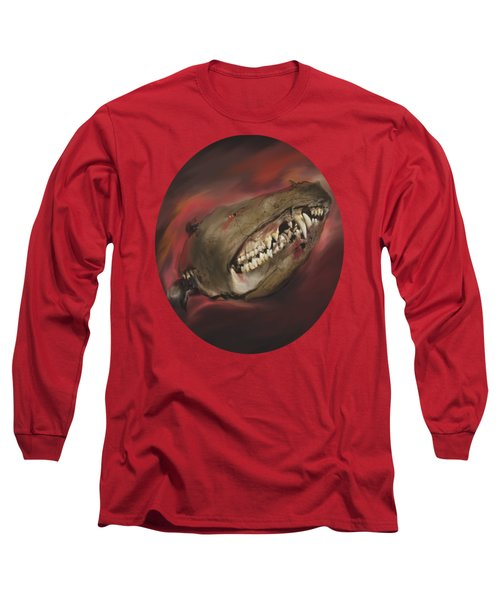 Monster Skull Long Sleeve T-Shirt by MM Anderson