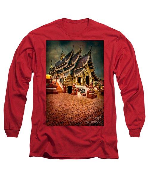 Monthian Temple Chiang Mai  Long Sleeve T-Shirt